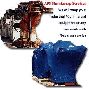 APS Shrinkwrap Services - We will wrap your Industrial / Commercial equipment or any materials with first-class service